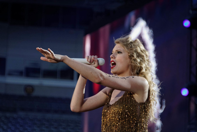 Taylor Swift at Speak Now Concert