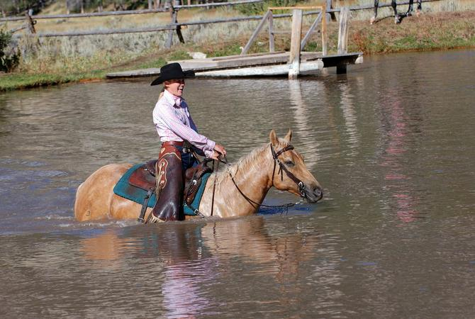 Trail riding is enjoyable for both horse and rider, but horses face injury when riding through unusual terrain