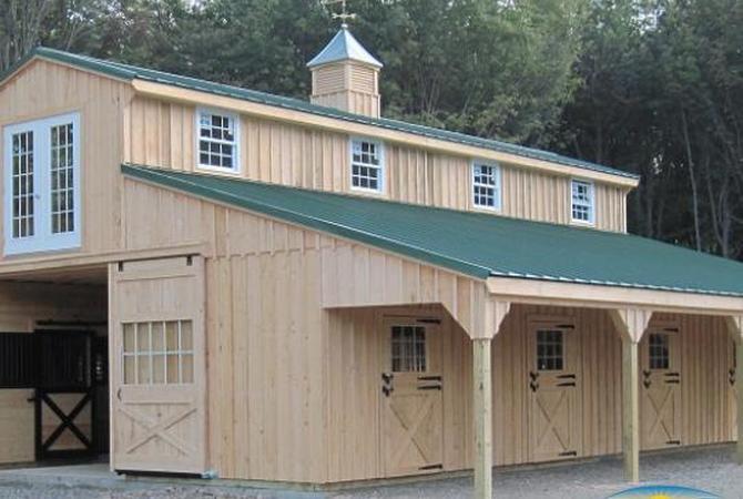 A Horizon Structures horse barn.
