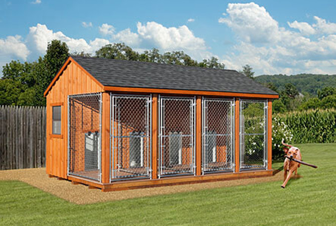 A dog kennel designed and provided by Horizon Structures