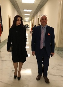 Priscilla Presley and Marty Irby advocating for the PAST Act in January 2019 on Capitol Hill.