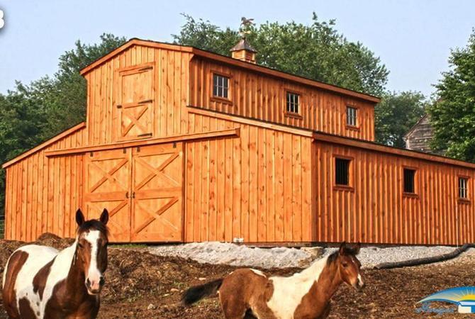 Horizon Structures monitor barn with lloft.