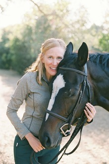 Author and blogger Susan Friedland with her horse Knight.