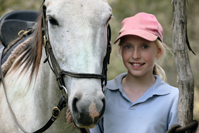 Summer school for girl and horse.