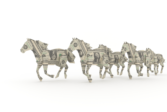 Dollar bills: Horse industry's $50 billion intake creates a huge impact.