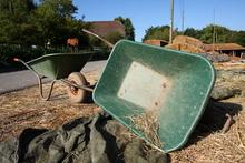 Barnyard area full of tetanus sources - moldy hay, muck, dirt.