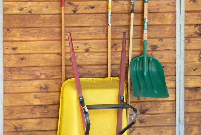 Tools for disposing of horse manure and keeping area clean and sanitary.