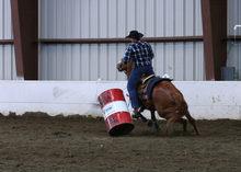 Barrel racer in action.