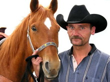 A veteran with his therapy horse.