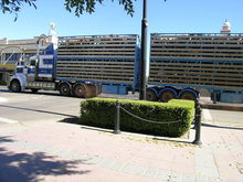 Double deck livestock trailer not fit for horses