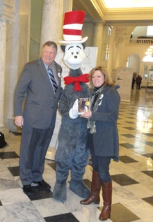 Senator Reilly and author Valerie Ormand