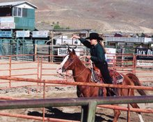 Riding a gelding for 4-H roping contest