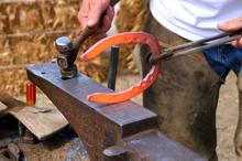 Forging a custom horse shoe